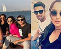 Crickter Shoaib Malik And Sania Celebrating Vacation In Duba