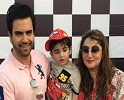 Junaid Khan and his Wife Celebrating Son Birthday