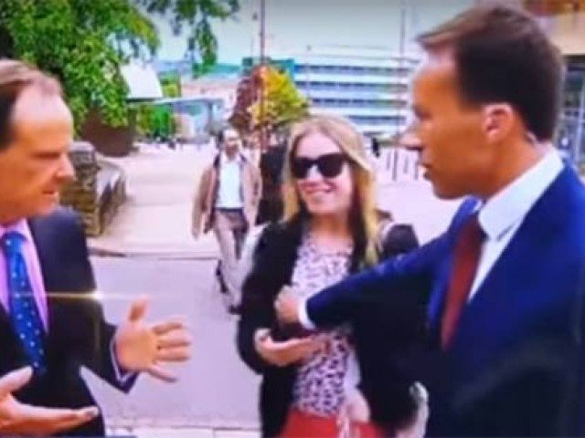 BBC Reporter slapped when he touched woman breast