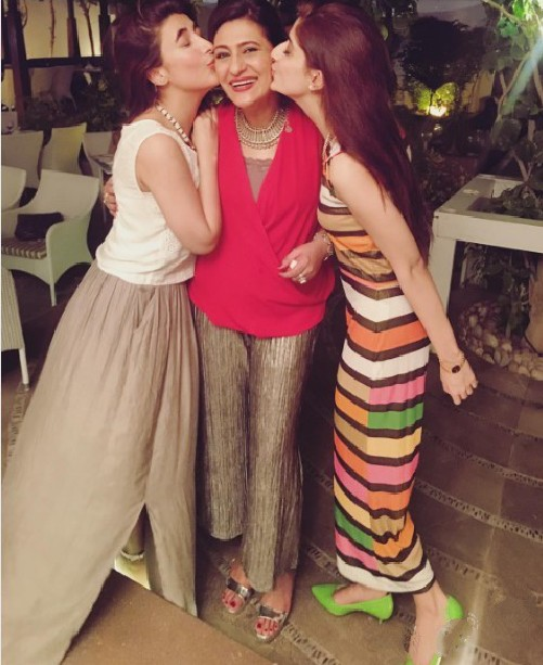 Hocane sisters at Saba Hamid's 60th Birthday