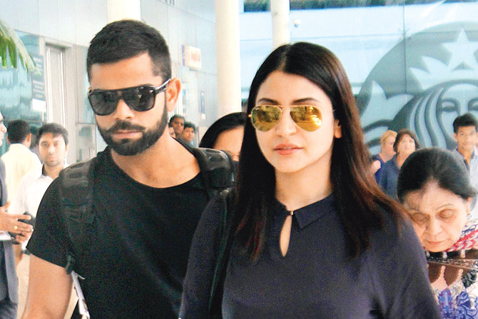 Virat Kohli Spotted in New York with Anushka Sharma