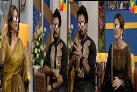 Kubra Khan, Yasir Hussain and Bushra Ansari Making Fun In a