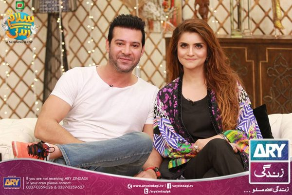 Moammar Rana and Family in ARY Zindagi Morning Show