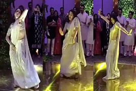 Saif Ali Khan's Daughter Sara Ali Khan Dance in a Wedding