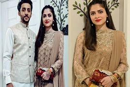 Arij Fatyma with her husband On Eid Ul Fit
