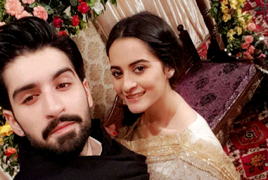 Aiman Khan in Bridal Look