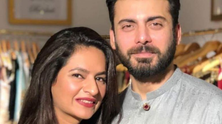 Fawad Khan with his wife at Bridal Show