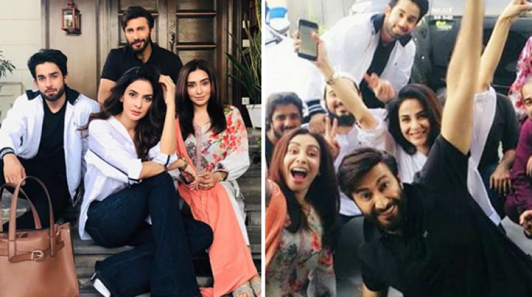 UPCOMING DRAMA CHEEKH CAST HAVING FUN ON THE SET