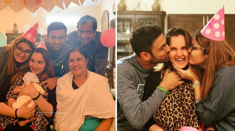 Sania with Family & Husband Birthday Celebration